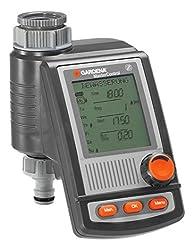 GARDENA Bewässerungscomputer MasterControl: Automatische Bewässerungssteuerung, bis zu 6 Bewässerungen pro Tag, bis zu 10 h Dauerbewässerung, LC-Display, Drehknopf, Batteriebetrieb (1864-20)