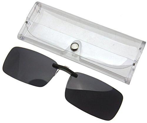 Rahmenlose, polarisierte Sonnenbrille mit austauschbaren Gläsern, UV400 dunkelgrau