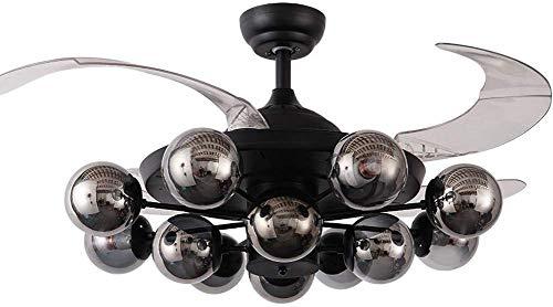 Ventilador de Techo con Ventilador de Techo de luz con Ventilador de Techo al Aire Libre Luz con Luz...