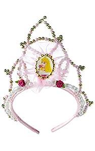 Princesas Disney - Tiara de Bella Durmiente, color rosa, Talla única (Rubie