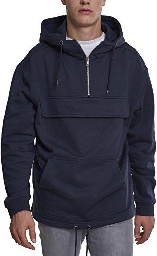 Urban Classics Herren Kapuzenpullover Sweat Pullover Blau (Navy 00155)