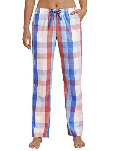 Schiesser Damen Mix & Relax Webhose lang Schlafanzughose, Mehrfarbig (Multicolor 1 904), 44 (Herstellergröße: 044)