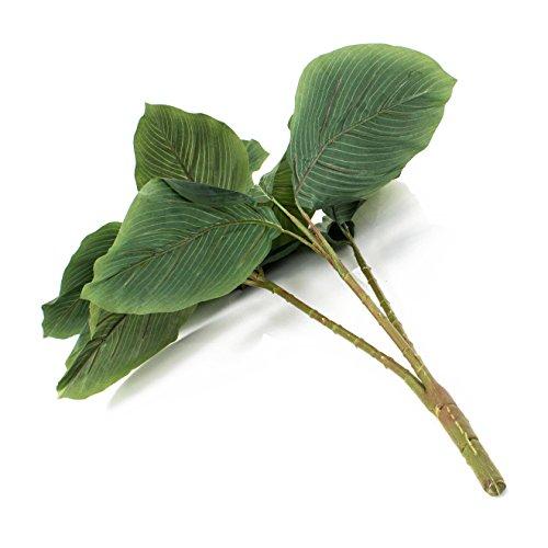 artplants – Künstlicher Philodendron mit 3 Ästen, 13 Blätter, auf Steckstab, 90 cm – Unechte Grün Pflanze/Deko Zimmerbaum