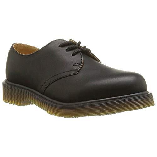 Black Greasy Leather Boot (Dr. Martens Unisex-Erwachsene 1461PW Greasy 59 Last BLACK Derby, Schwarz), 43 EU)