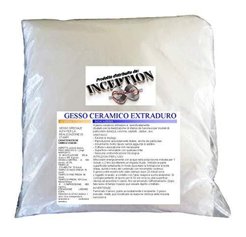 Inception Pro Infinite 3kg Alta qualità Gesso ceramico - atossico - colabile - extraduro - Tipo dentistico - Alta Definizione e Resistenza
