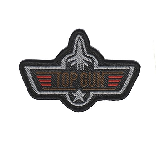 Top Gun Iron on Sew on Embroidered Badge