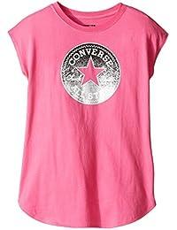 Converse T-Shirt Fille Iconique All Star Logo Rose 8-10Y / 10-12Y / 12-13Y ou 13-15Y