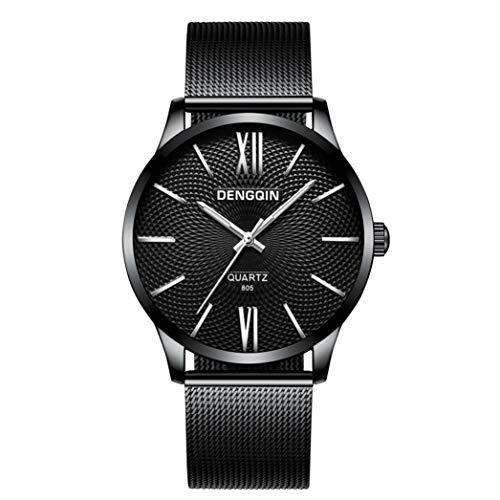 Uhren Herren Luxus Marke Wasserdicht Chenang Sport Männer Luxus-Quarz-Sport-Militäredelstahl-Vorwahlknopf-Lederband-Armbanduhr Edelstahl Mesh Business Fashion Armbanduhr