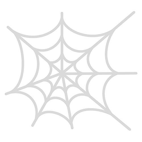 Cuadros Lifestyle Fensterfolie/Dekofolie Halloween - Spinnennetz | Selbstklebend, Größe:60x55 cm, Farbe:Milchglas Frosted Blickdicht (Große Spinnennetze Halloween)