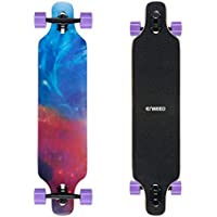 ENKEEO 40 inch Longboard Skateboard Komplettboard Drop-Through Cruiser Board
