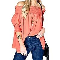 Orange Off Shoulder Blouse For Women