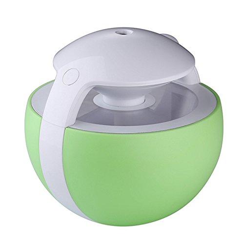 REFURBISHHOUSE Mini humidificador de Aire con luz Nocturna USB Elfos Nocturnos Humidificador de Aire 450ml LED Taladro magico de casa Colorido Mini Verde