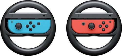 Nintendo Schalter Lenkrad Controller, Webat Nintendo Schalter Joy-Con Lenkradgriffe von 2 Racing Wheel Controller Körper Verschleißfeste Kart Racing Spiel Zubehör - schwarz
