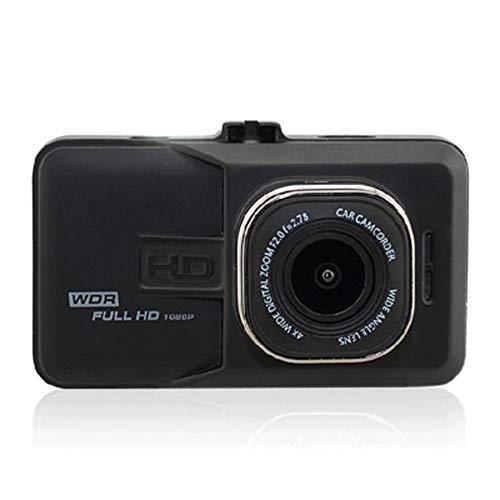 Dash Cam HD 1080P Kamera Loop Recording Fahren Recorder 170 ° Winkel Parkplatz Monitor Bewegungserkennung Vorder-und Rückseite Dual Record (Color : SCHWARZ) (Fahren Records Kamera)