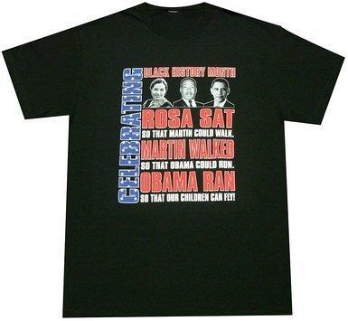 Black History Month T-shirt ~ Rosa Martin Obama(Large)