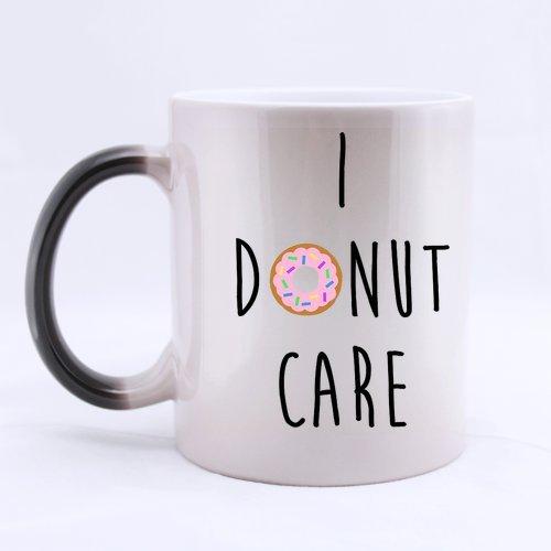 I Care Donut Funny Quotes-Tazza che cambia Morphing Mug-Tazza da caffè, 11 oz misure