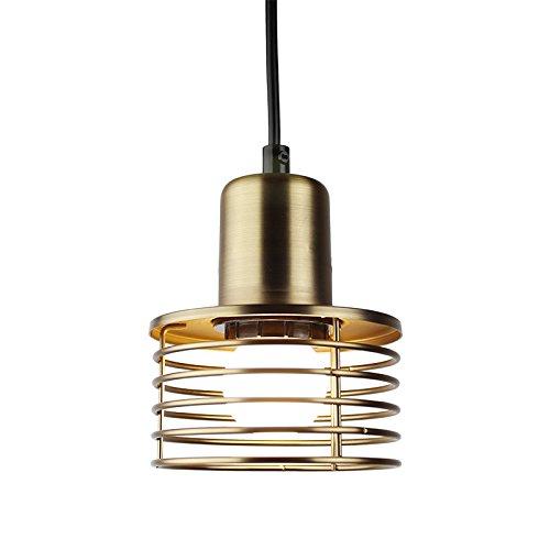 Industrie-leuchtstofflampen (Motivtecch Nordeuropäischen Restaurant Lampe Alte Industrie Wind Kleiner Leuchter Moderne Prägnant Amerikanischen Eisen Kunst Lampen Und Laternen Kreative Persönlichkeit, Bronze 7-W-Led-Lampe (Weiße Beleuchtung))