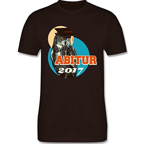 Abi & Abschluss - ABITUR 2017 Vintage Eule - Herren Premium T-Shirt Braun