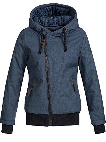 DESIRES Damen Besti warme Herbst Winter Jacke Winterjacke Regenjacke Steppjacke Windbreaker gefüttert 1991 INSIGNIA BLUE S