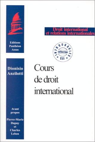 Cours de droit international