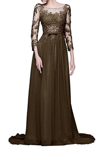 Sunvary Elegant Neu Damen Spitze Steine Herzform Abendkleid Lang Ballkleider Schokolade