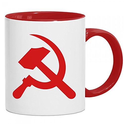Hammer & Sichel Tasse | Kommunismus | Russland | Lenin | Kaffeetasse mit Farbe | Keramik-Becher © Shirt Happenz, Farbe:Rot (Intone);Größe:onesize