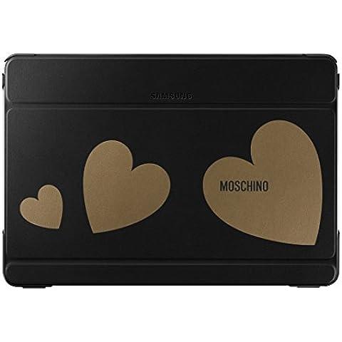 Samsung Diary Moschino - Funda para Samsung Galaxy Note Pro 12.2, color negro y oro corazón