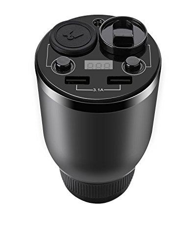 Caricabatteria da auto Tvird USB Caricabatteria da auto e Aroma Diffusore 2 in 1 multifunzione con schermo a LED, 2 porte USB e 2 presa accendisigari per iPhone Android Phone GPS e altro anco