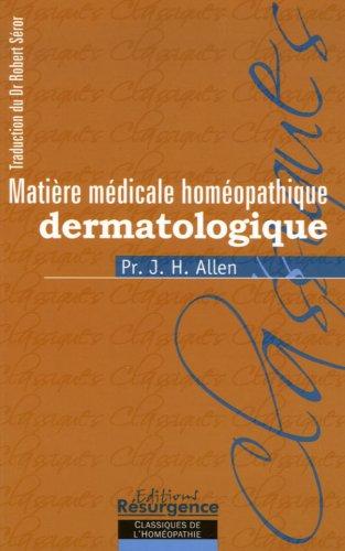 Matière médicale dermatologique
