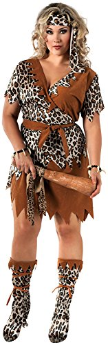 Muster Kostüm Höhlenmensch - Generique - Höhlenmensch-Kostüm für Damen