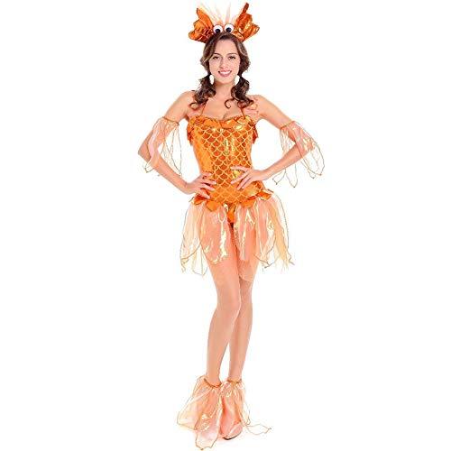 Damen Halloweenkostüm Kleiner Goldfisch Stil Kostüm Set Cosplay