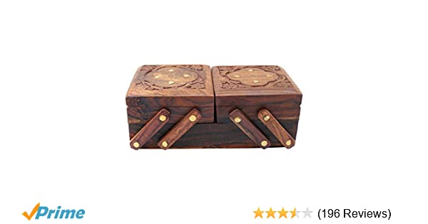 Buy ITOS365 Jewellery Box for Women Wooden Flip Flap Flower Design Handmade  Gift c8fdb3c62c