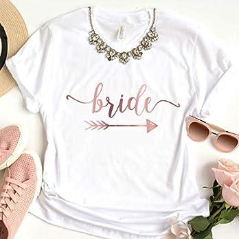 """T-Shirt """"Bride"""" weiß aus 100% Baumwolle"""