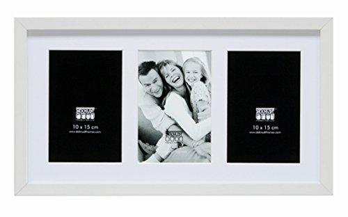 Deknudt Frames S66KA6 Cadre Photo pour 3 Photos Vertical Blanc 10 x 15 cm