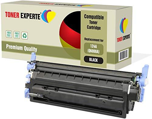TONER EXPERTE® Schwarz Premium Toner kompatibel zu HP Q6000A 124A für HP Color Laserjet 1600 1600n 2600 2600n 2600dn 2605 2605d 2605dn 2605dtn CM1015 CM1017 MFP (Hp 1600 Laserjet Drucker Color)