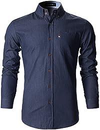 FLATSEVEN Mens Stylish Casual Shirt Slim Cut