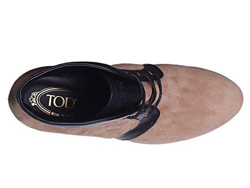 Bootines compensées Tod's en peau retournée tabacco - Code modèle: XXW0QF0F6502UK582A Tabac