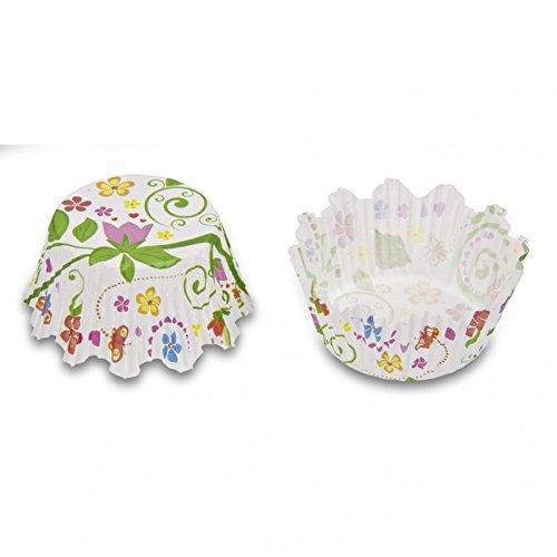 Staedter, Papier-Backformen im Mini-Blumengarten-Design, mehrfarbig, 50Stück
