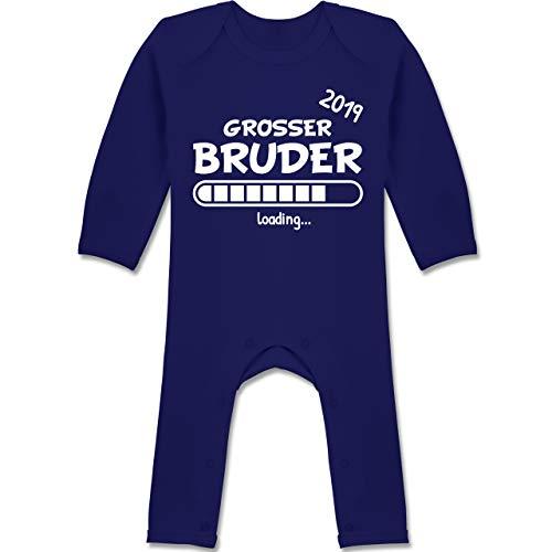 Shirtracer Geschwisterliebe Baby - Großer Bruder Loading 2019-6-12 Monate - Navy Blau - BZ13 - Baby-Body Langarm für Jungen und Mädchen