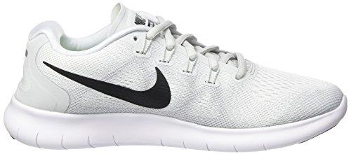 Nike Wmns Free Rn 2017, Scarpe Running Donna Grigio (White/black-pure Platinum)