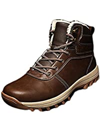 Stivali da Neve Uomo Stivaletti Uomo Inverno Trekking Scarpe Outdoor Pelliccia  Sneakers Nero Marrone Chiaro Marrone c6ddca4a9f2