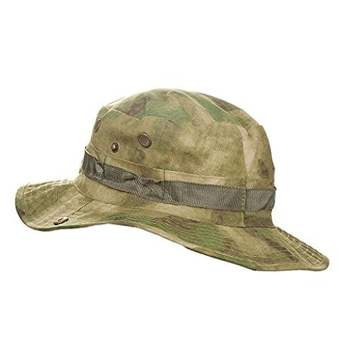MerryBIY Sports et Extérieur Sun-shading Chapeau Bucket Hat Boonie Camping Chasse Pêche Vert Armée Jungle camouflage Unisex Cap Été Soleil Plage Casquette (A-TACS FG)
