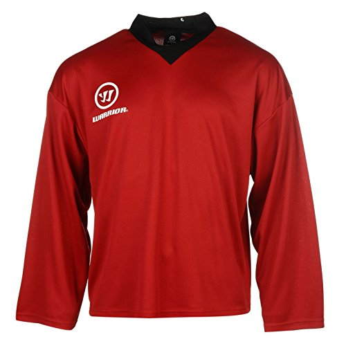 Warrior Herren Practice Training Trikot V Ausschnitt Langarm Eis Hockey Shirt Rot XX Large (T-shirt Warrior Training)