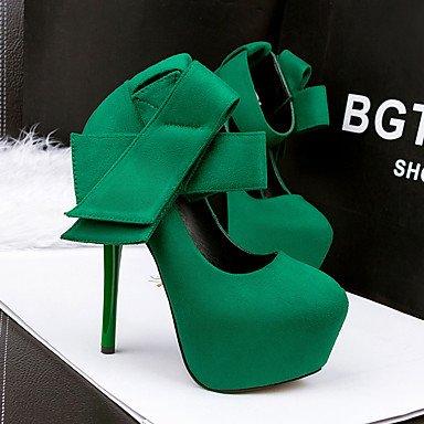 Moda Donna Sandali Sexy donna tacchi Comfort / Punta / punta chiusa Casual Stiletto Heel Bowknot nero / verde /rosso/grigio Green