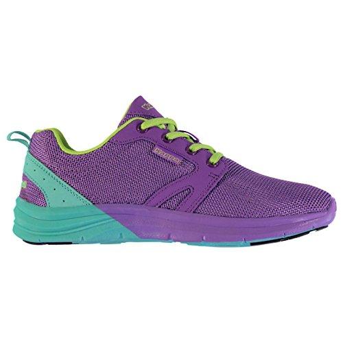 Kappa Damen Drammer Turnschuhe Sportschuhe Sneaker Freizeit Kontrast Detail Violet/Azure