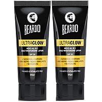 Beardo Ultraglow All in 1 Face Lotion for Men | Skin Brightening Cream | Dark Spot Reduction | Sunscreen SPF 30…