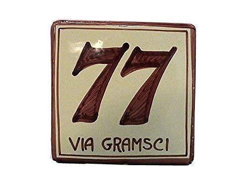 Numeri Civici In Ceramica.Numeri Civici E Targhe In Ceramica Quadrato Cm 10x10 Ordina Qui Il Tuo Numero Civico Personalizzato