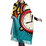 Yuepart 27 'x 77' Fringe Blanket Schal im böhmischen Stil Uhren und Armbanduhren Schal Reiseschals Leichte, stilvolle, große, warme Decke