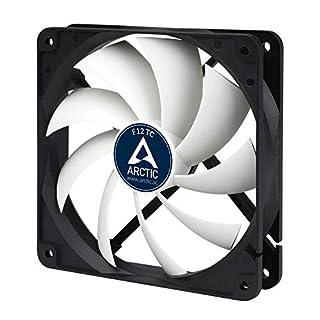 ARCTIC F12 TC - Temperaturgesteuerter 120 mm Gehäuselüfter   Standard Case Fan   Temperatursensor reguliert RPM   Push- oder Pull-Konfiguration
