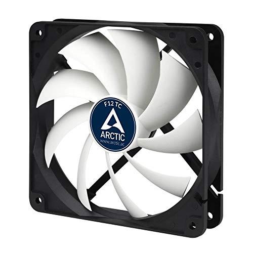 ARCTIC F12 TC - Temperaturgesteuerter 120 mm Gehäuselüfter | Standard Case Fan | Temperatursensor reguliert RPM | Push- oder Pull-Konfiguration -